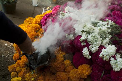 Cementerio de Ocotepec en dia de muertos